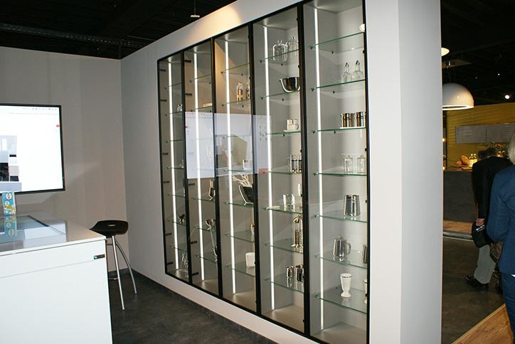 Einbau-Glasvitrinen für Küchen