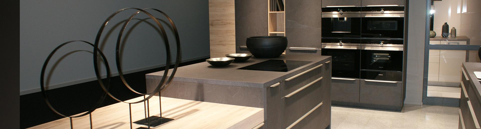 Küche in Betonoptik im Küchenstudio Cottbus