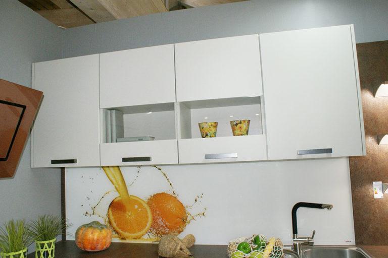 Angebotsküche Touch Hochschrank Regal integriert Küchenstudio Cottbus