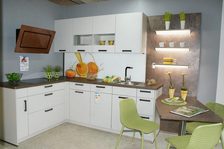 Angebotsküche Touch Lacklaminat matt Savanne- Küchenstudio Cottbus